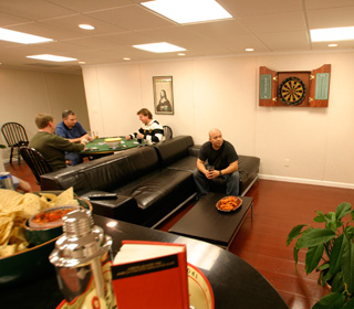 Milwaukee basement game room
