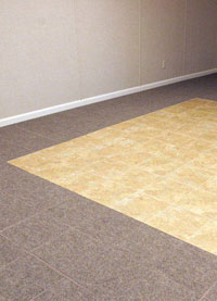 Basement Wood Flooring installed in Buffalo Grove, Illinois