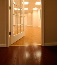 Basement Wood Flooring installed in Wauwatosa, Wisconsin