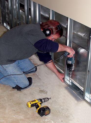 Lighting Basement Washroom Stairs: Basement Wall Restoration New Berlin, Milwaukee