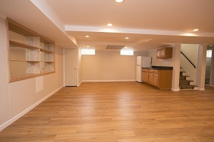 Basement finishing flooring in Milwaukee & nearby