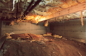 Before view of dirt Crawl Space in Milwaukee