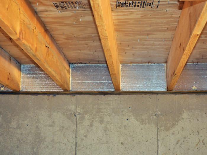 Silverglo Insulation Installed In A Floor Joist Buffalo Grove